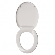 Celmac Fusion white toilet seat and cover stainless steel hinge