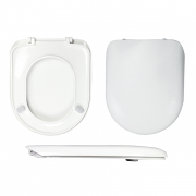 Celmac Maestro Toilet Seat & Cover Stainless Steel Hinge White