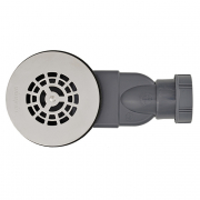 MACDEE Slim Ø90 mm UNIVERSAL WASTES for ALL shower trays, Stainless steel Grid 43/50mm outlet waterless membrane trap