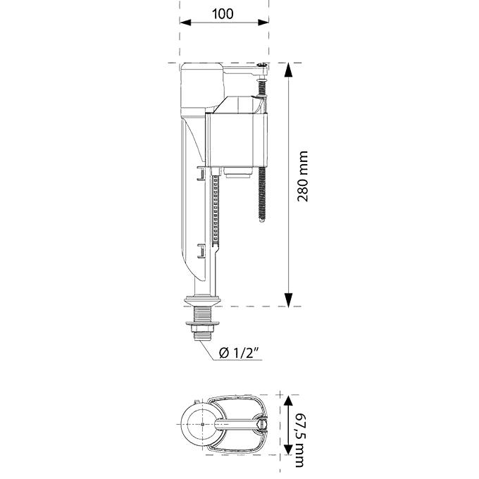 macdee jollyfill bottom entry inlet float valve wirquin macdee jollyfill bottom entry 9 1 2 inlet float valve