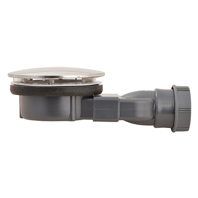 Macdee slim 90 mm wastes metal dome waterless membrane trap wirquin pro sanitary equipment - Shallow shower tray ...