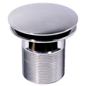 MACDEE QUICK CLAC metal body wastes Chrome plated Quick Clac waste, slotted, mushroom head, metal plated backnut