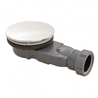 MACDEE Slim Ø90 mm UNIVERSAL WASTES for ALL shower trays, Metal Dome 43/50mm outlet waterless membrane trap