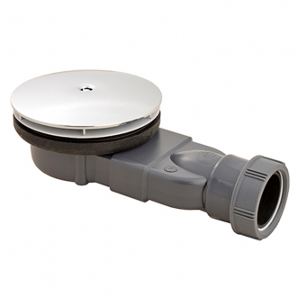 MACDEE Slim Ø90 mm UNIVERSAL WASTES for ALL shower trays, Chrome ABS dome 43/50mm outlet waterless membrane trap