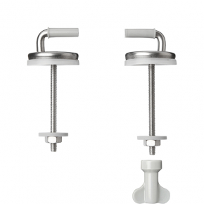Adjustable stainless steel bottom fixing for Celmac toilet seat