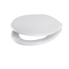 Celmac Celeste Plus anti-viral toilet seat and cover with chrome plated brass hinge