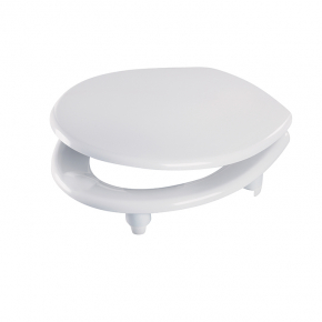 Celmac Celeste Pro halo toilet seat and cover chrome plated brass hinge