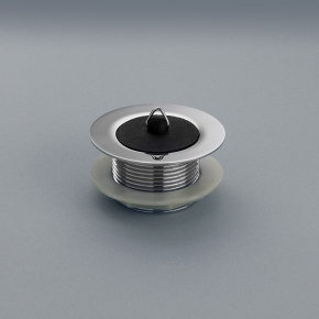 MACDEE Poly plug & chain with METAL BODY Chrome plated bath waste, with poly plug only, plastic backnut