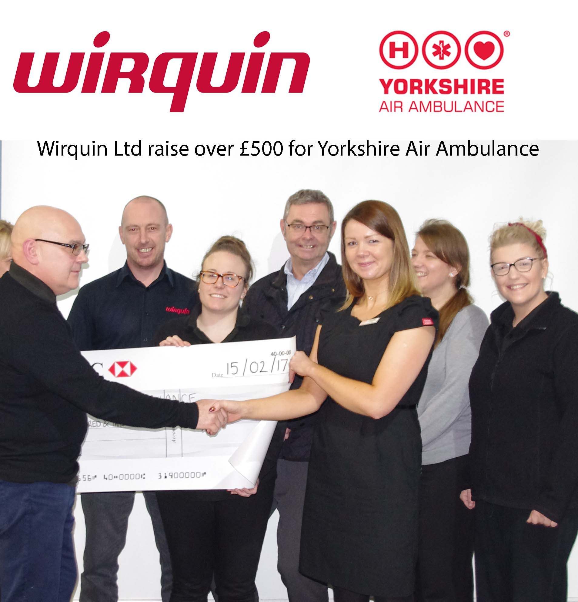Wirquin Raise over £500 for Yorkshire Air Ambulance